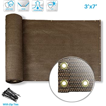 Amazon Com Patio Paradise Deck Privacy Screen 3 X 7 Perfect For Outdoor Backyard Balcony Pool Porch Railiing Gardening Fence Shield Rails Protection Brown Custom With Ziptes Garden Outdoor