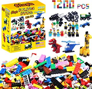Alapa Building Bricks - 1200Piece Toys Bulk Block Set...