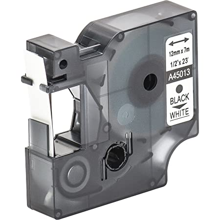 120P 350 100 Plus 300 Cartuccia a nastro vhbw 12mm per Dymo LabelManager 100 350D sostituisce Dymo D1 200 45018.