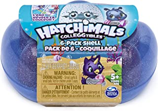 Hatchimals Colleggtibles, Mermal Magic 6 Pack Shell Carrying Case with Season 5 Colleggtibles, for Kids Aged 5 and Up
