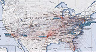 Home Comforts Map - Us Airways Flight Maps Exceptional Direct Flights Map Vivid Imagery Laminated Poster Print 24 x 36