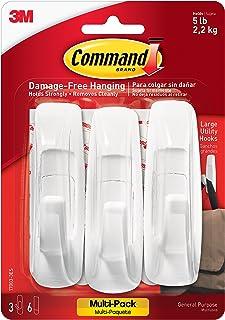 3M Command Damage-Free Large Utility Hooks, White