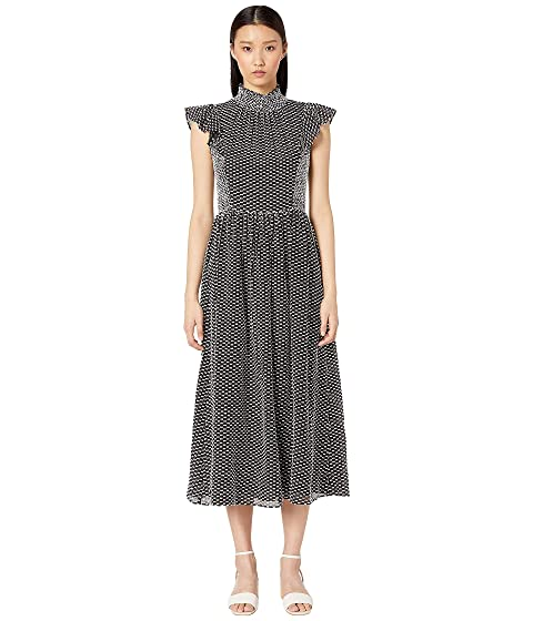 Kate Spade New York Smocked Clip Midi Dress