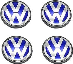 Lingyi Wheel Center Hub Caps 65mm Wheel Hub Cover Replacements Logo Badges Emblems for VW P/N:3B7 601 171, Blue,4pcs