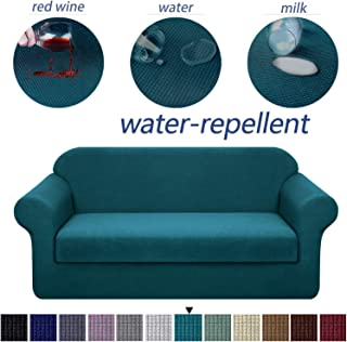 Granbest Stretch Sofa Slipcovers 3 Cushion Couch Covers Water-Repellent Pet Furniture Covers Dog Couch Protectors (Blackish Green, Sofa-2 Pieces)