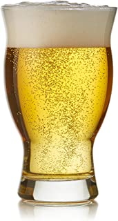Libbey Craft Brews Nucleated Pint Beer Glasses, Set of 4