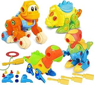JOYIN Dinosaur Toys Take Apart Toys (Pack of 4) - Construction Engineering Building Play Set