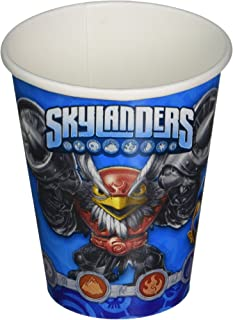 Swashbuckling Skylanders Birthday Party Paper Cups Disposable Drinkware (8 Pack), Blue, 9 oz.