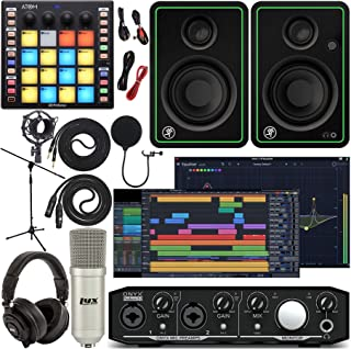 Mackie Onyx Producer 2-2 Audio/Midi interface With Pro Tools First Music Software, ATOM Midi Production Pad Controller, CR...