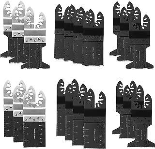 Oscillating Saw Blades, 20 pcs Oscillating Tool Blades, Metal/wood Universal Multitool Quick Saw Blades Kit for Fein Multimaster Porter Cable Black Decker Bosch Ryobi Milwaukee Bosch Dremel Dewalt