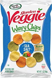 Sensible Portions Garden Veggie Chips, Sea Salt, 1 oz. Bag, (Pack of 24)