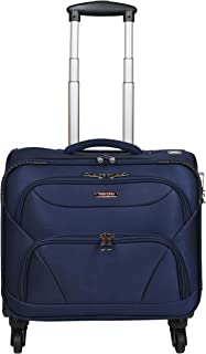 Murano Cannon 4 Wheel Polyester 28 LTR Soft-Sided 15.6 inch Laptop Overnighter Bag/Luggage Bag (CT_Blue)