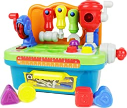 Boley Imagination Station - My First Workbench - Boys and Girls Beginners Toy Workbench Tool Set for Toddlers and Children - Tool Kit Includes Play Drill, Hammer, Screwdriver, and More!
