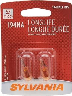 Sylvania 194NA Long Life Miniature Bulb, (Contains 2 Bulbs)