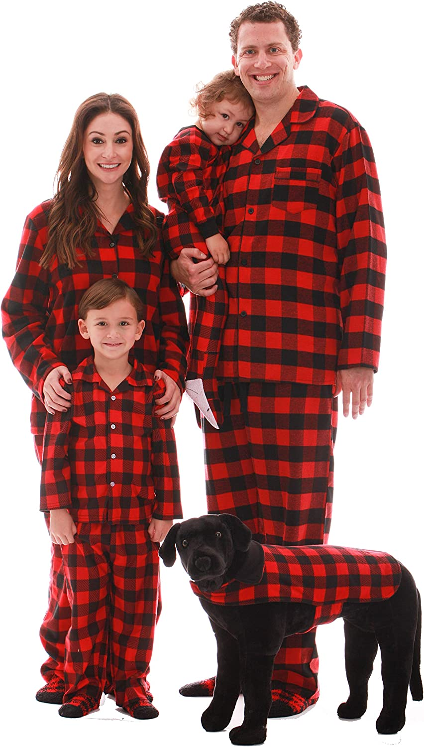 #followme Family Pajamas Buffalo In a popularity Direct sale of manufacturer Microfleece Plaid Button-Front