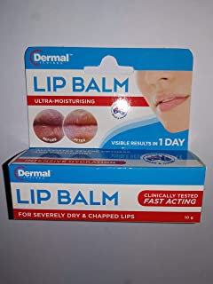 DERMAL THERAPY Lip Balm Therapy 10g -is a Medicated Lip Balm Designed to Hydrate and Soften severely Dry Lips