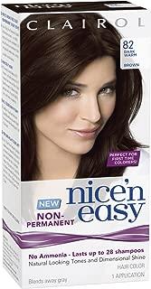 Clairol Nice'n Easy [82] Dark Warm Brown Non-Permanent Hair Color 1 ea