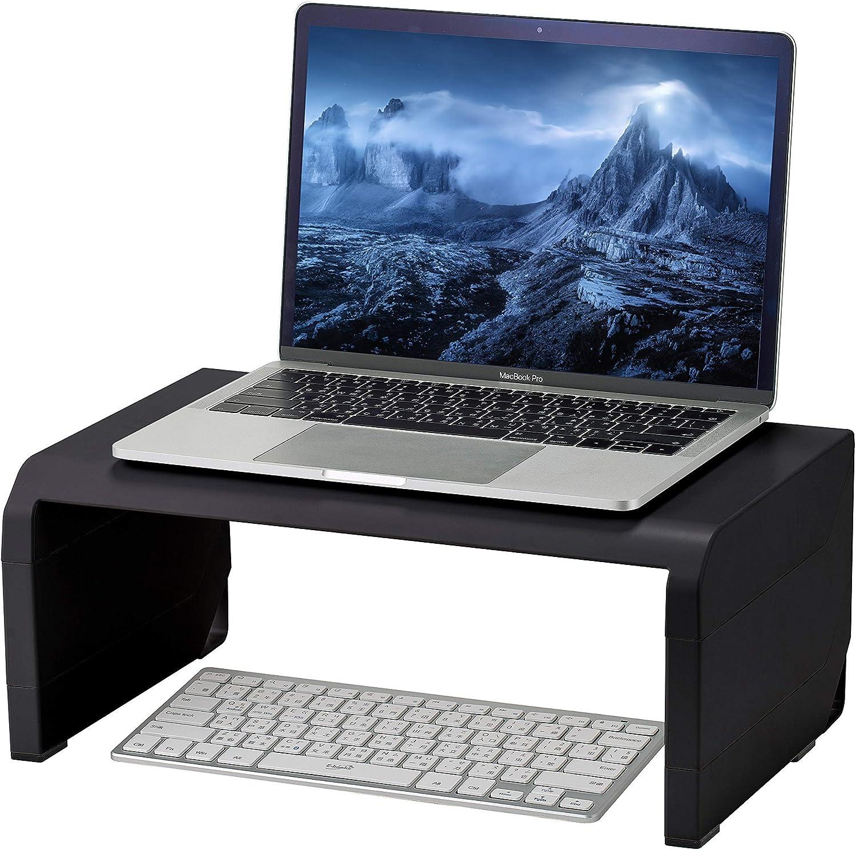 Konnect Adjustable Monitor Stand Riser, Rubber Feet (Black)