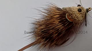 BestCity Fly Fishing Pike BASS Mouse Shrew with Weed Guard Size 4/6 Single Pack UK- Pike Flies Pack #127