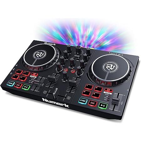 Numark Party Mix II - DJ Controller with Party Lights, DJ Set with 2 Decks, DJ Mixer, Audio Interface and USB Connectivity + Serato DJ Lite
