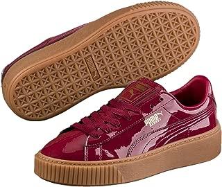 PUMA Women's Basket Platform Patent WNS, Tibetan Red-Tibetan Red, Sneakers
