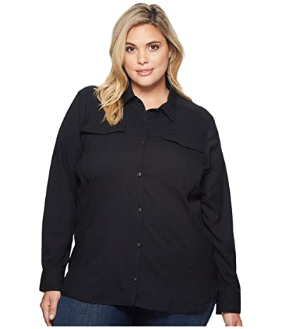 Columbia Plus Size Silver Ridge Lite Long Sleeve Shirt (Black) Women