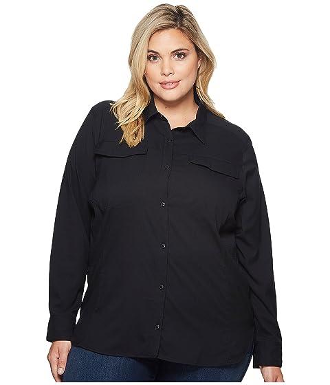 cede8e3fa1c Columbia Plus Size Silver Ridge Lite Long Sleeve Shirt at Zappos.com