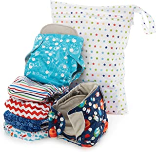 Simple Being Reusable Cloth Diapers, Double Gusset, One Size Adjustable, Washable Soft..