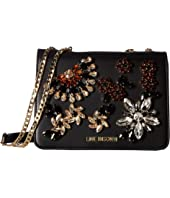 LOVE Moschino - Crossbody Bag with Stone Detailing