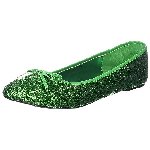 2f72f1a861b4 Heels Club Glitter retro Fancy Dress flat shoes pumps