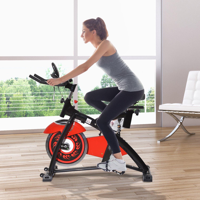 Tidyard Spin Bike Indoor Entrenamiento aeróbico con Pantalla LED ...