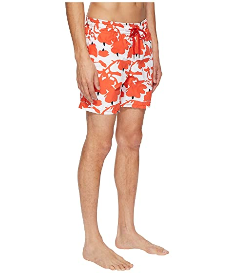 Vilebrequin Limited Edition Donald Sultan Moorea Swim Trunk White/Red Wholesale Price Cheap Online Free Shipping Pay With Paypal Buy Cheap Cost With Mastercard Cheap Online Outlet Best Wholesale AvNS3f