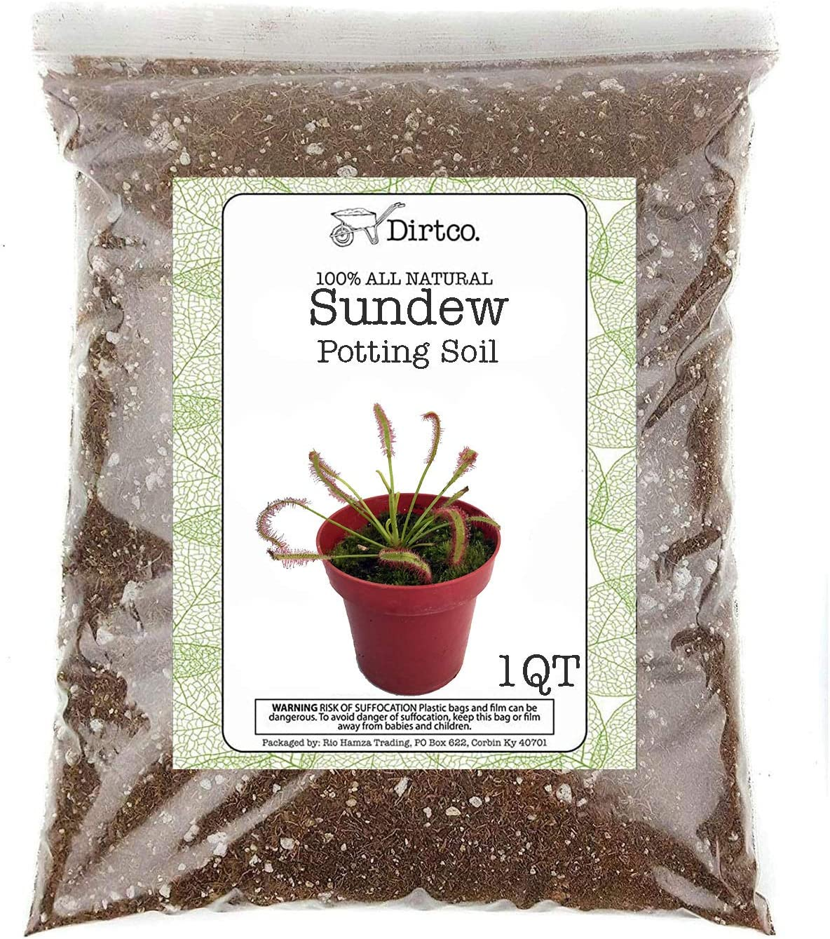 Sundews OFFicial store Plant Soil Mix 1 Quart Small 1-2 Re-Pot Size Bombing new work Bag Plants
