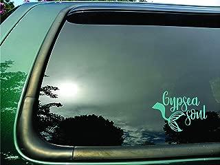 Gypsea Soul Mermaid Tail Teal Green- Die Cut Vinyl Window Decal/sticker for Car/Truck/Laptop 5.5
