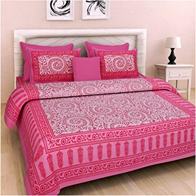 Tiger Exports Jaipuri Cotton Sanganeri Printed Bedspreads for Double Bed King Size_Multicolour