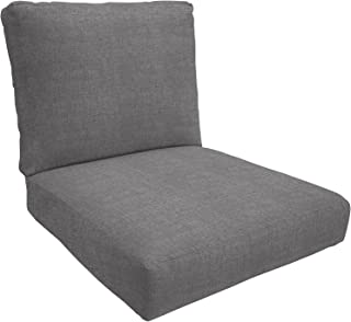 Eddie Bauer Home Deep Seating Lounge Double Piped, Medium, Cast Slate