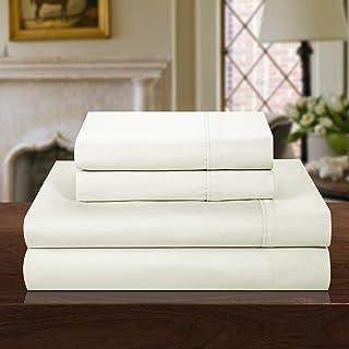 Chic Home 1000 Thread Count 4 Piece Cotton Rich Luxury Sheet Set, King, Solid Beige