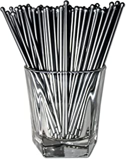 Royer 6 Inch Round Top Swizzle Sticks, Set of 48, Silver – Made In USA