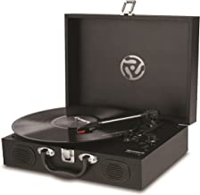 Numark PT01 Touring | Portable Suitcase Turntable with USB Connectivity for Conversion, Retro Styling, Onboard Stereo Speakers & Built in Rechargeable Battery - Three-Speed (33 1/3, 45 and 78rpm)