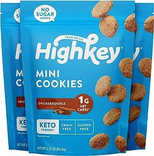 HighKey Keto Snacks Low Carb Snickerdoodle Cookie – Paleo, Diabetic Diet Friendly..