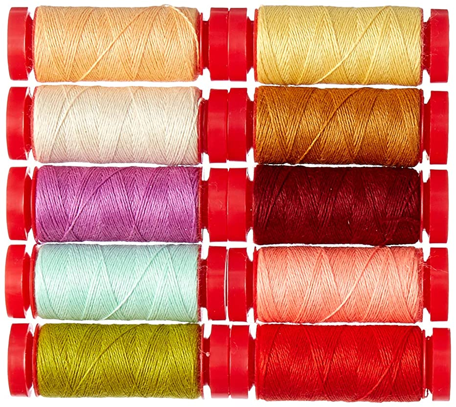 Fig Tree and Co Farmhouse Wools Aurifil Thread Kit 10 Small Spools 12 Weight JF12FW10