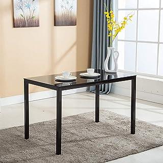 Mecor Dining Table Modern Minimallist Glass Kitchen Table...