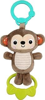 Bright Starts Tug Tunes On-The-Go Take-Along Toy, Monkey, Newborn +