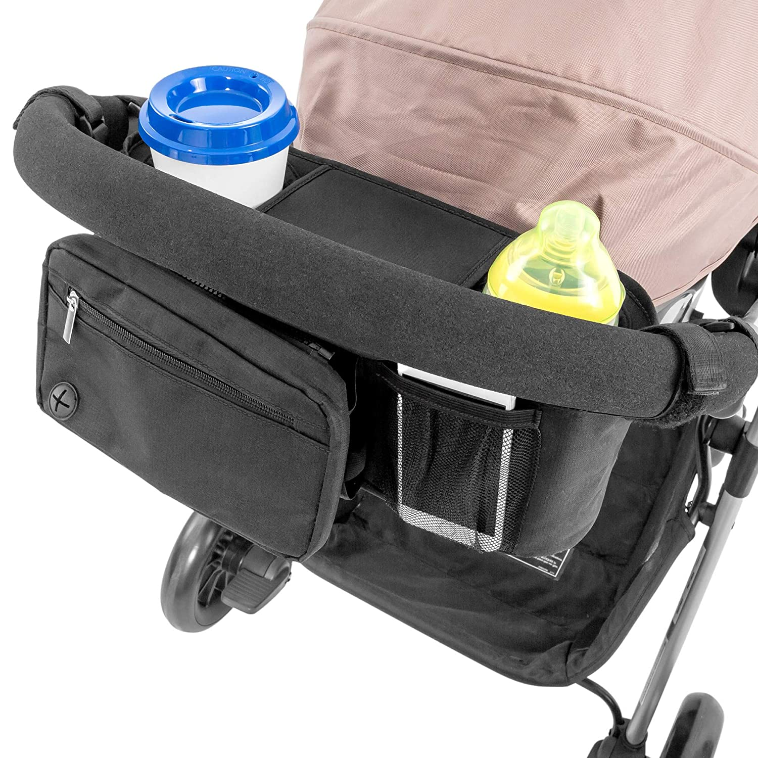 Lusso Raleigh Mall Max 83% OFF Gear Stroller Organizer With Cup Stroll All Holders - Fits