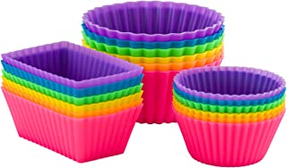 Pantry Elements Silicone Baking Cups Variety Pack / Bento Bundle Lunch Box Dividers (18-Pack)