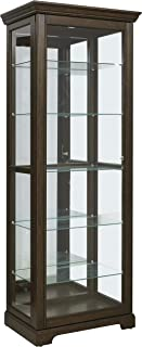 Pulaski Locking Sliding Door Curio Display Cabinet, 29.25