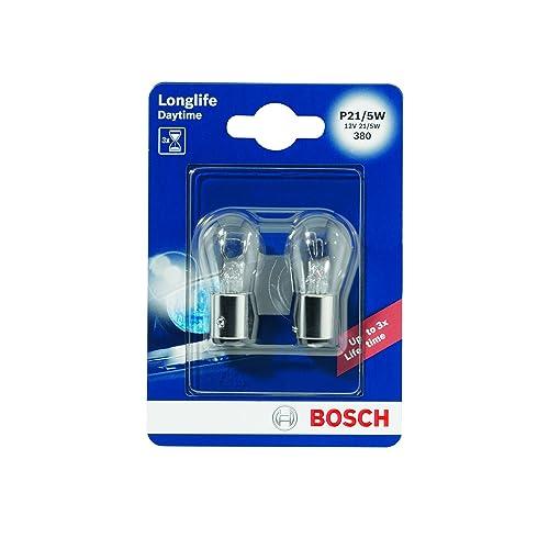 Bosch 1987301055 Longlife - Bombilla P21/5W (para luz de freno, intermitentes,
