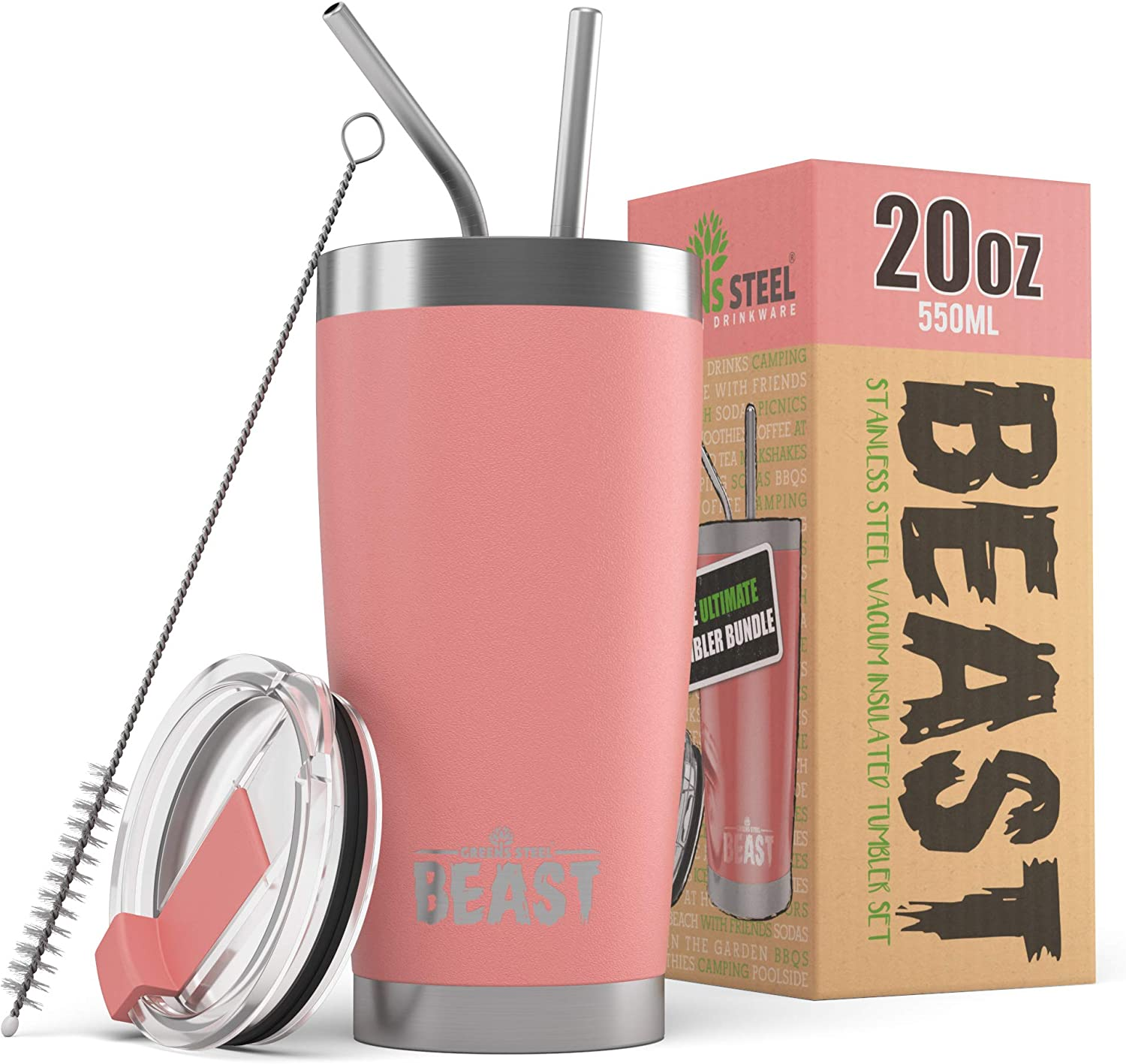 BEAST 20 oz Blossom Easy-to-use Tumbler - latest C Coffee Steel Insulated Stainless