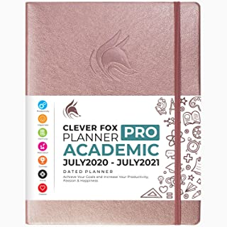 "$36 » Clever Fox Planner PRO Dated (Jul 2020-Jul 2021) Weekly & Monthly Life Planner to Increase Productivity, Time Management and Hit Your Goals - Organizer, Gratitude Journal - 8.5 x 11"" - Rose Gold"