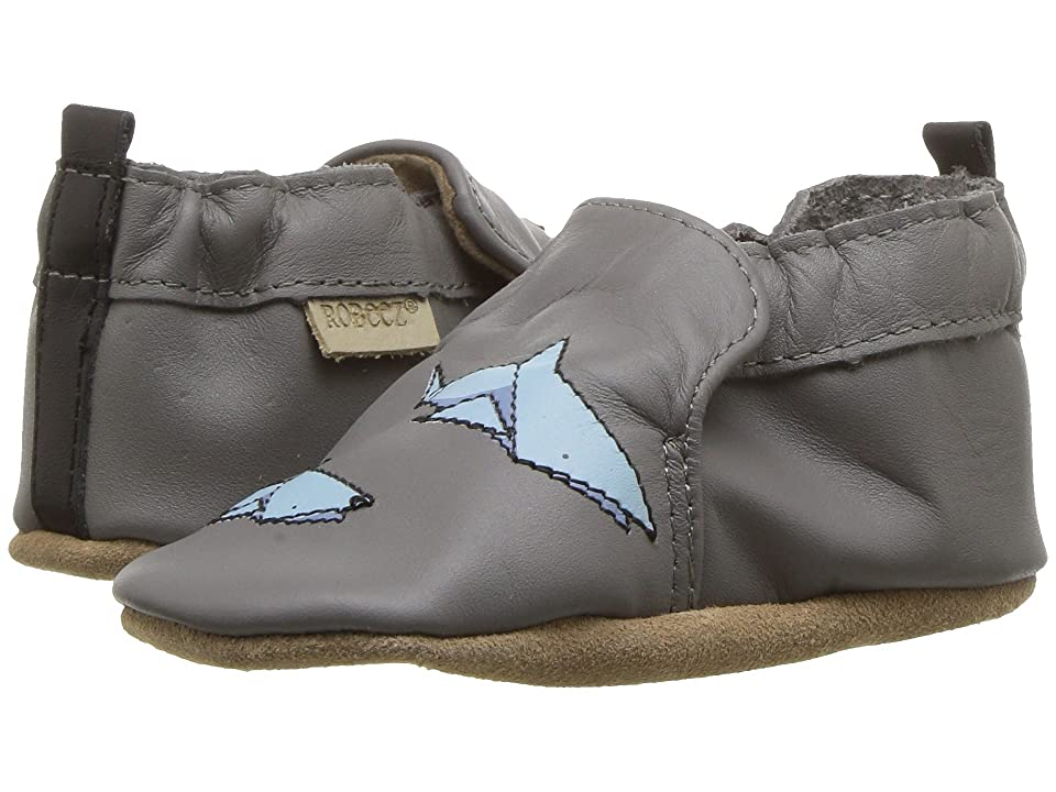 Robeez Shark-tastic Soft Sole (Infant/Toddler) (Grey) Boy